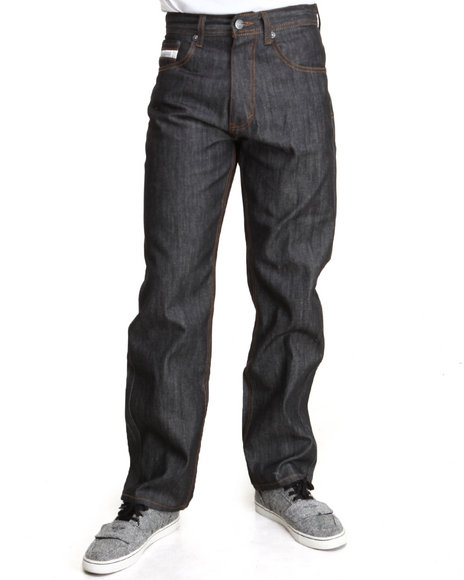 Akademiks Black,Raw Wash Liberty Color Denim Pants