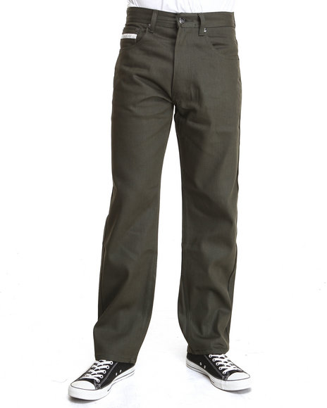 Akademiks Olive Liberty Color Denim Pants