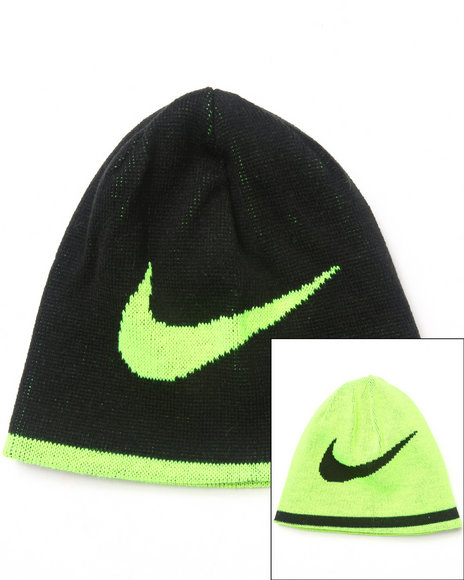 Nike Boys Reversible Swoosh Beanie Black