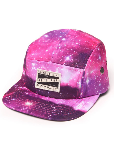 Glamour Kills Infinite Voyage 5 Panel Hat Pink