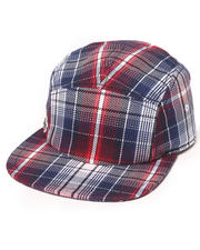 Men - L!Ve Cotton Twill Plaid 5-Panel Cap