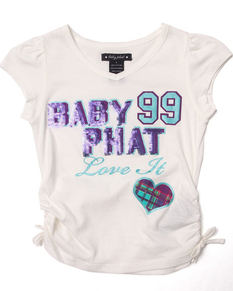Baby Phat - Girls White Love It Tee (4-6X)
