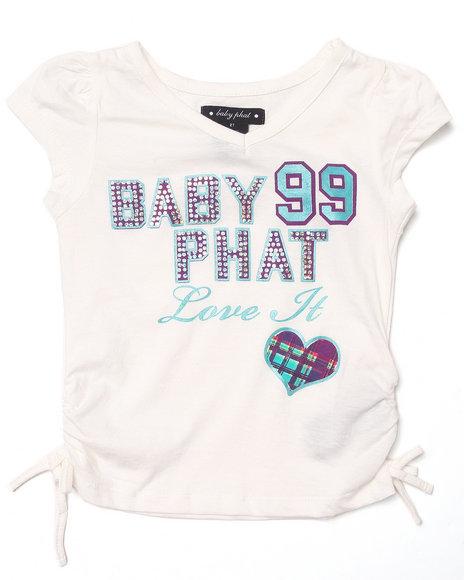 Baby Phat - Girls White Love It Tee (2T-4T)
