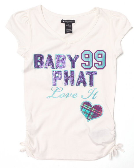Baby Phat - Girls White Love It Tee (7-16)