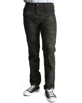 MO7 - Crinkle Wash Camo Denim Jeans