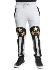 Men - American Flag Fleece Pants