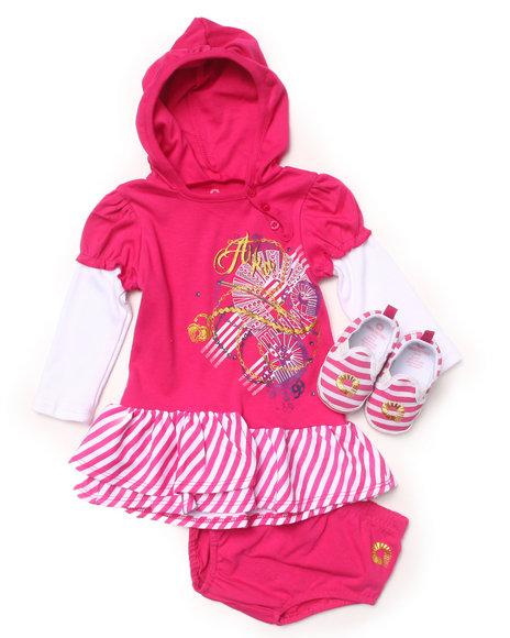Akademiks - 2 PC SET - CREEPER DRESS & SHOES (INFANT)