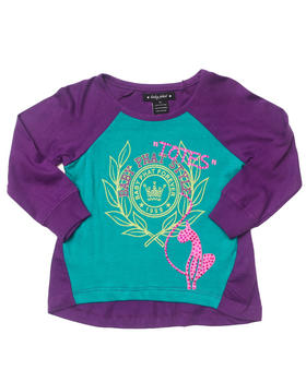 Baby Phat - L/S COLOR BLOCK TOP (2T-4T)