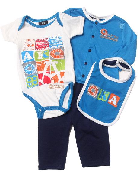 Akademiks - Boys Blue 4 Pc Aka Take Me Home Set (Newborn)