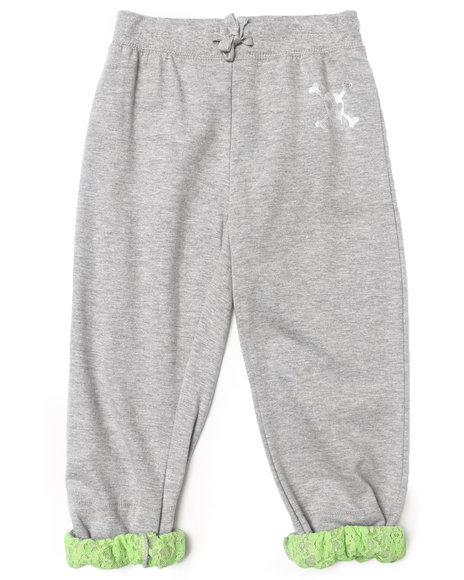 La Galleria - Girls Grey Roll Cuff Pants (7-16)