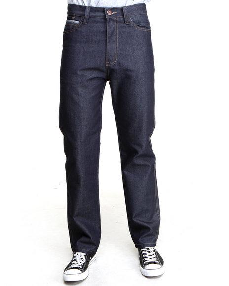 MO7 Dark Wash,Indigo,Raw Wash Classic Straight Fit Raw Denim Jeans