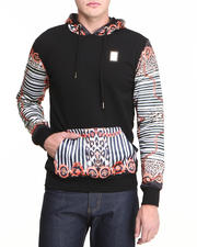 Men - Fire Chain Silk - Sleeve Hoodie