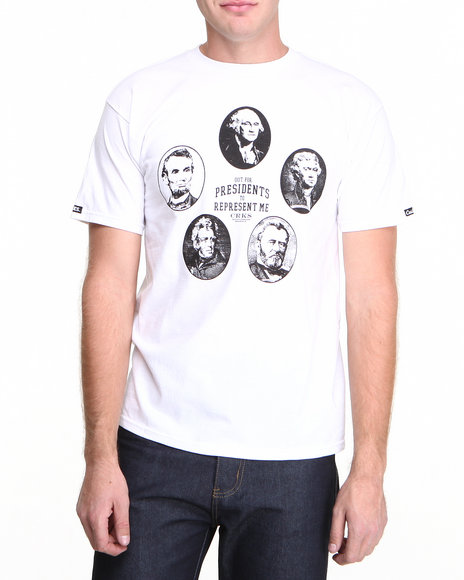 Crooks & Castles - Men White Represent T-Shirt