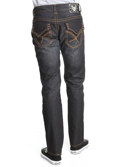 Pelle Pelle - Men Medium Wash Glacier Wash Studded Rebel Denim Jeans
