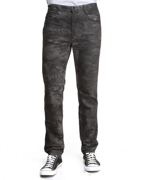 MO7 Black Krinkle Wash Camo Denim Jeans