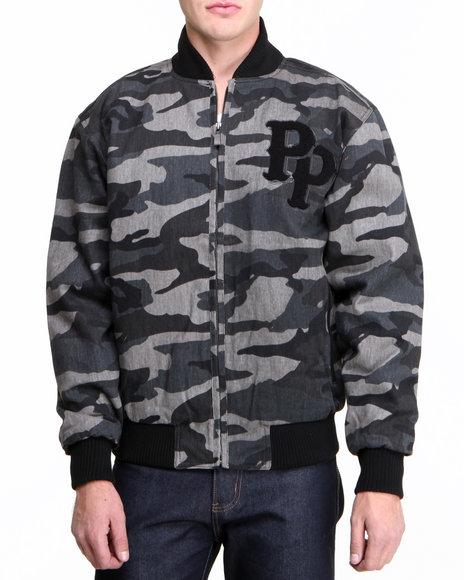 Pelle Pelle - Men Black Black Camo Chenille Pelle Pelle Jacket
