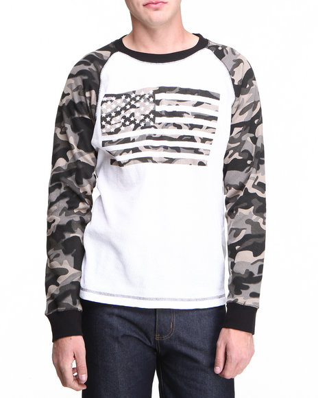 Basic Essentials - Men Black Patriot Raglan Thermal