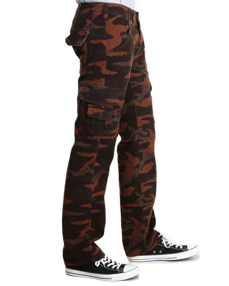 Pelle Pelle - Men Brown Camo Cargo Pants