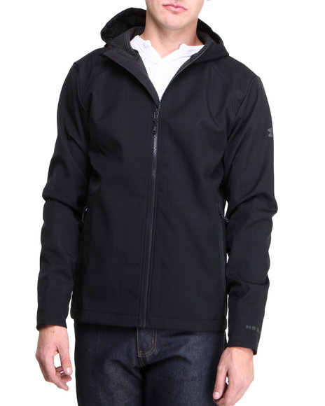 Under Armour - Men Black Coldgear Infrared Receptor Softshell Jacket  (Water Resistant)