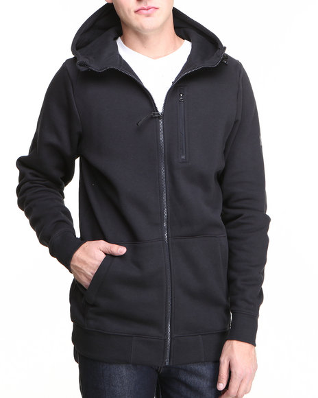 Under Armour - Men Black Mtn Fz Zip Hoody Jacket (Water Resistant)