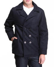 Basic Essentials - Wool Peacoat