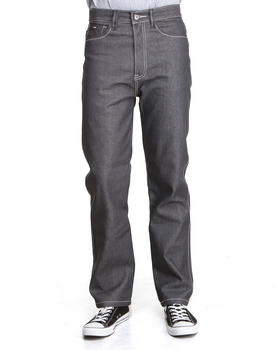 MO7 - Contrast Stitching Straight Fit Denim Jeans