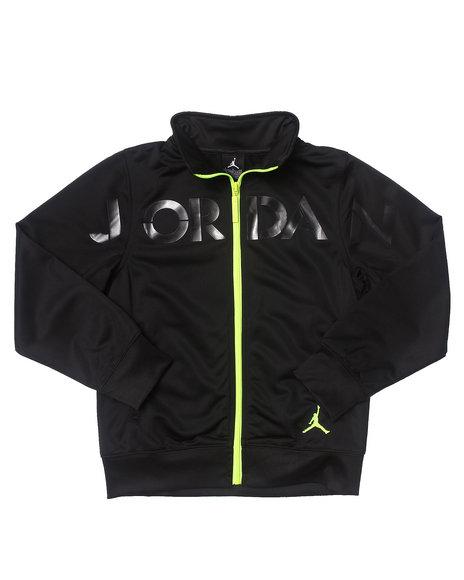 Air Jordan Boys Black Jordan Pop Color Track Jacket (8-20)