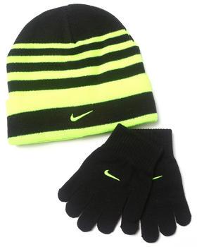 Nike - Striped Beanie & Gloves Set