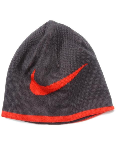 Nike Boys Reversible Swoosh Beanie Grey