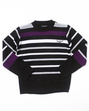 Sizes 4-7x - Kids - BOLD STRIPE CREW NECK SWEATER (4-7)