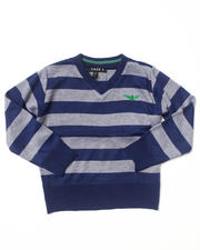 Boys - BOLD STRIPE V-NECK SWEATER (4-7)