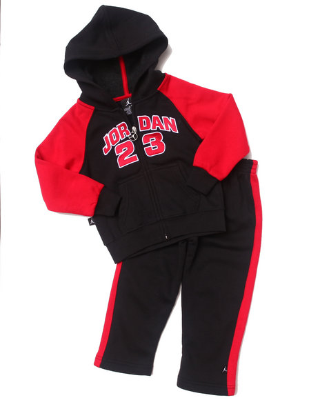 Air Jordan - Boys Red 2 Pc Classic Fleece Set (2T-4T)