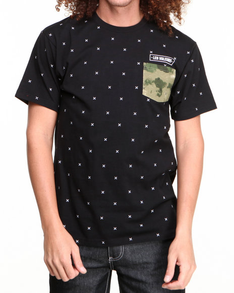 Crooks & Castles Black Thieve S/S Pocket T-Shirt