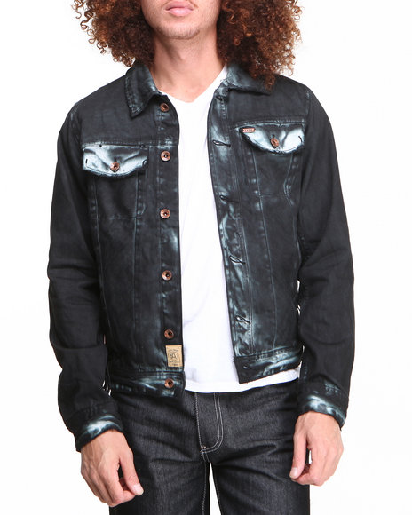 AKOO Black Raider Denim Jacket