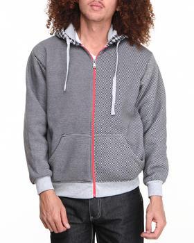 Buyers Picks - Multi Check Full Zip Hoody (Contrast hoody detail)