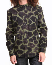 BLVCK SCVLE - Shah Giraffe Printed Oxford L/S Button-down