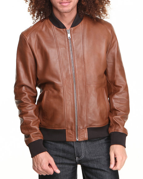 Members Only - Men Brown,Tan Timeless Lamb Leather Jacket