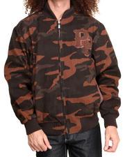 Varsity Jackets - Espresso Camo Chenille Pelle Pelle Jacket