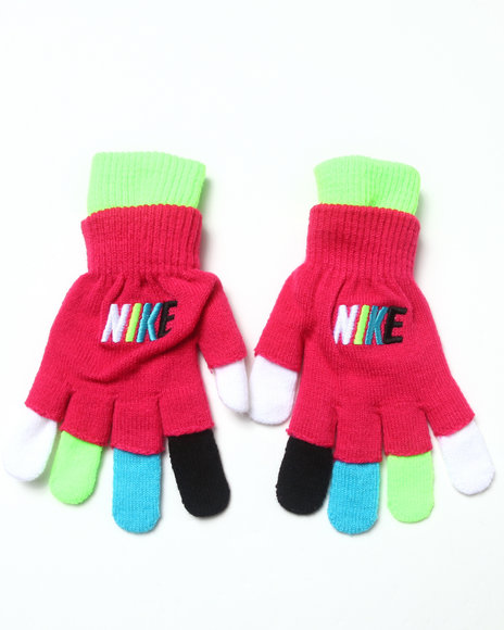 Nike Girls Nike Spectrum Gloves Pink