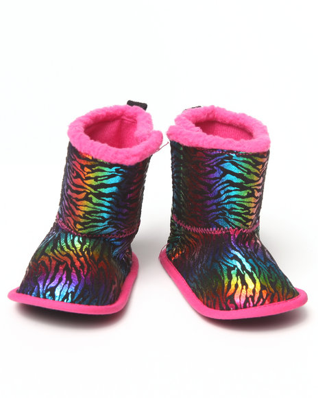 La Galleria Girls Multi Rainbow Bootie (Newborn)