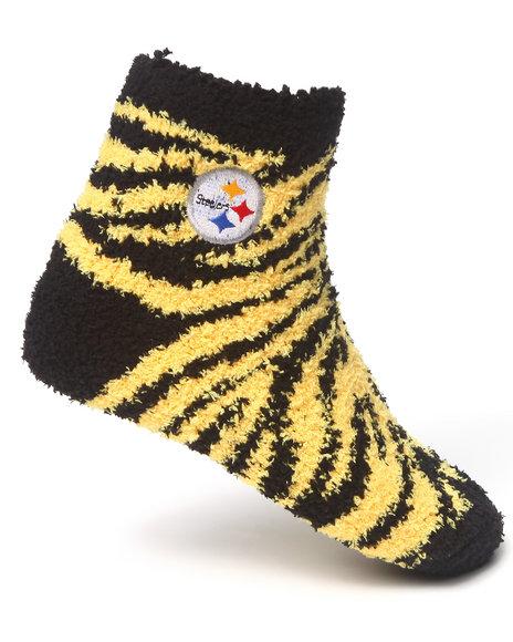 Nba Mlb Nfl Gear Pittsburgh Steelers Comfy Socks Black