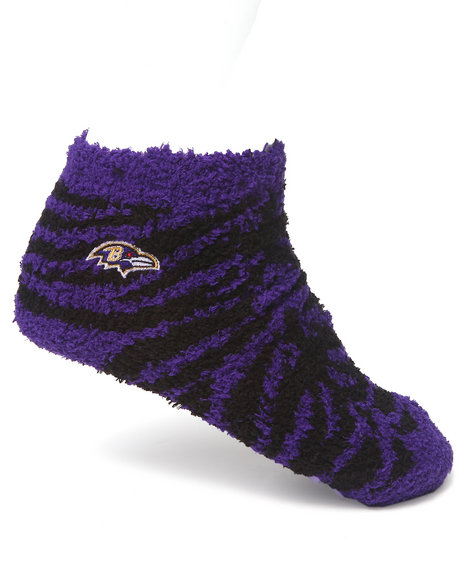 Nba Mlb Nfl Gear Baltimore Ravens Comfy Socks Purple