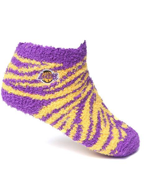 Nba Mlb Nfl Gear Los Angeles Lakers Comfy Socks Purple