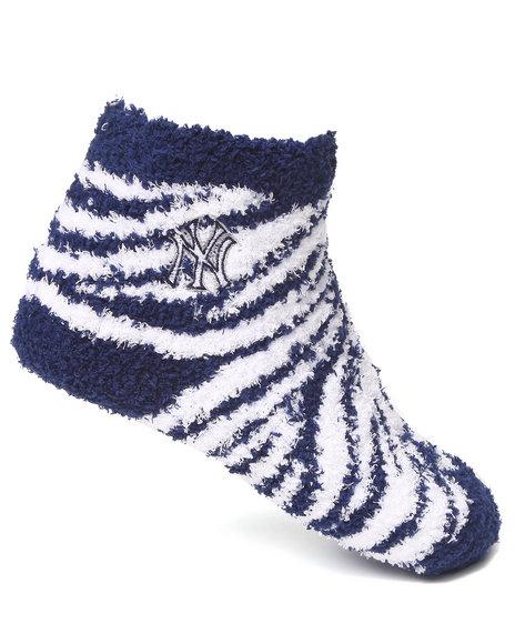 Nba Mlb Nfl Gear Women New York Yankees Comfy Socks Blue
