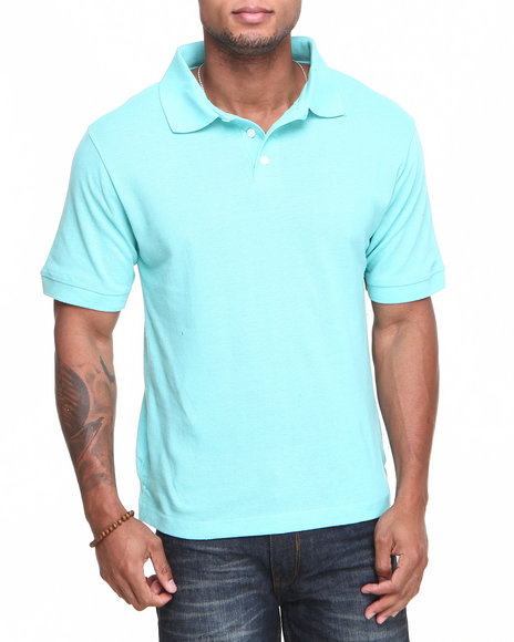 Basic Essentials - Men Green Solid State Polo