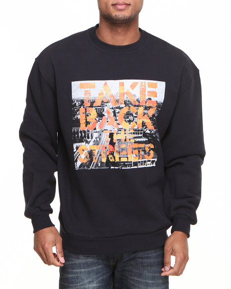 Pelle Pelle - Men Navy Take Back The Streets Pullover Sweatshirt - $40.99