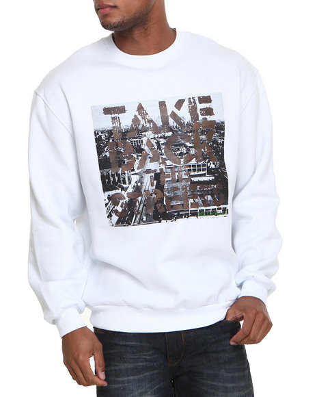 Pelle Pelle - Men White Take Back The Streets Pullover Sweatshirt - $40.99