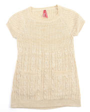 Girls - CABLE KNIT SWEATER DRESS (4-6X)
