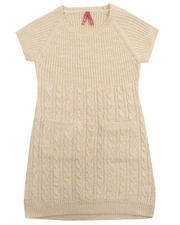 Girls - CABLE KNIT SWEATER DRESS (7-16)