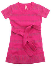 Girls - LUREX STRIPE DRESS (4-6X)